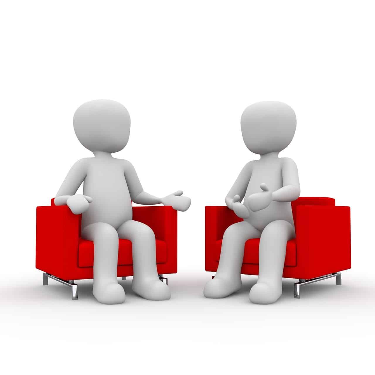 Gespräch zu zweit